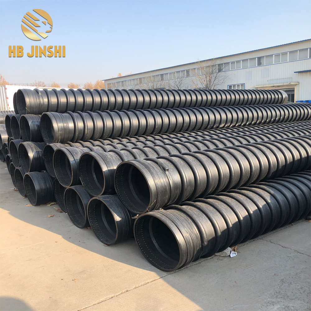 HDPE winding structure wall tube B type HDPE hollow wall winding tube carat tube