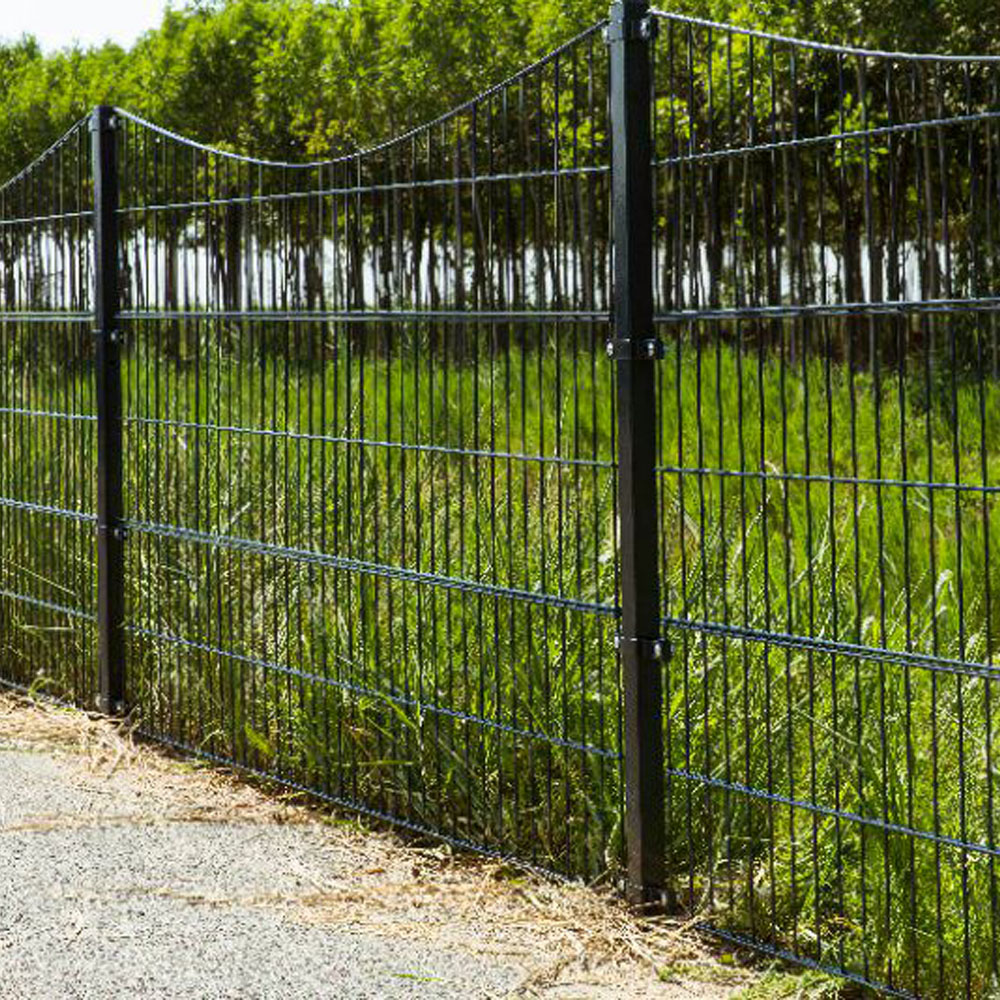 6/5/6mm 8/6/8mm  Double Wire Welded Mesh Fence Panels