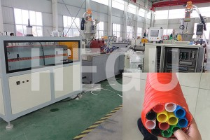 Waved pipe machine PE carbon spiral pipe making machine