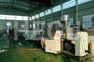 Wholesale ODM Upvc Cpvc Pvc Pipe Making Machine Pvc Pipe Extrusion Line With Conical Twin Screw Extruder