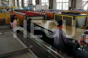 Wood Plastic WPC machine WPC board machine