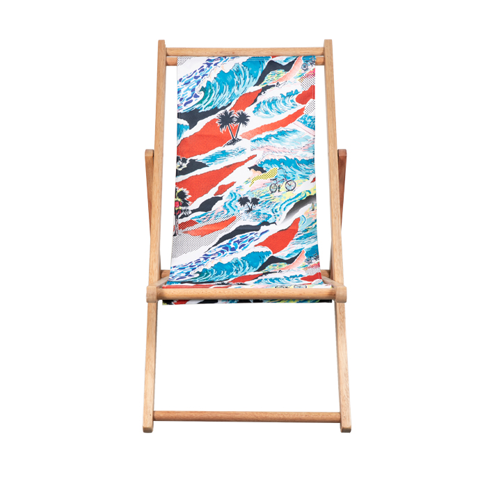 Wooden Deck Beach Sling Chairs For Sale XH-X001