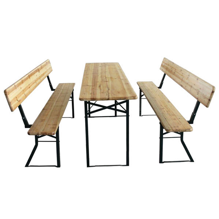 Outdoor Picnic Wooden Beer Pong Table XH-V016
