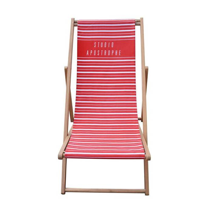 Portable Folding Wooden Seaside Beach Sling Chair   XH-X043