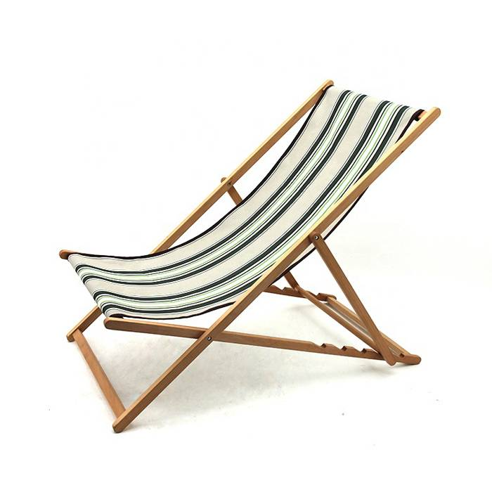 Outdoor Folding Wooden Lounge Sun Deck Chair     XH-X046