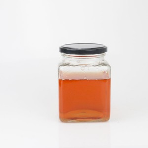 Mini Glass Hexagon Jars