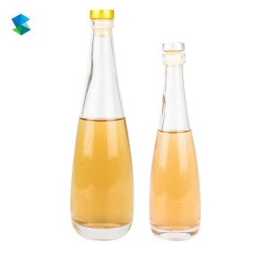 High quality  Long Neck Cork Top Clear Glass Wine Liquor Bottles For Drink