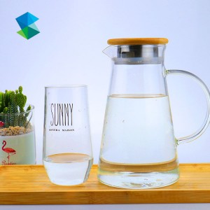 Large Capacity High Borosilicate Heat-resistant Cold Glass Water Bottle