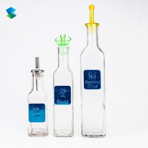 Square Olive Oil Glass Bottles