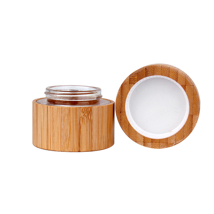 The development trend of bamboo and wooden lid glass jars in the field of cosmetic packaging