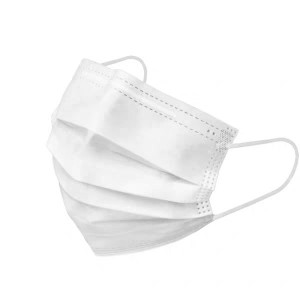 Civil Disposable White Face Mask