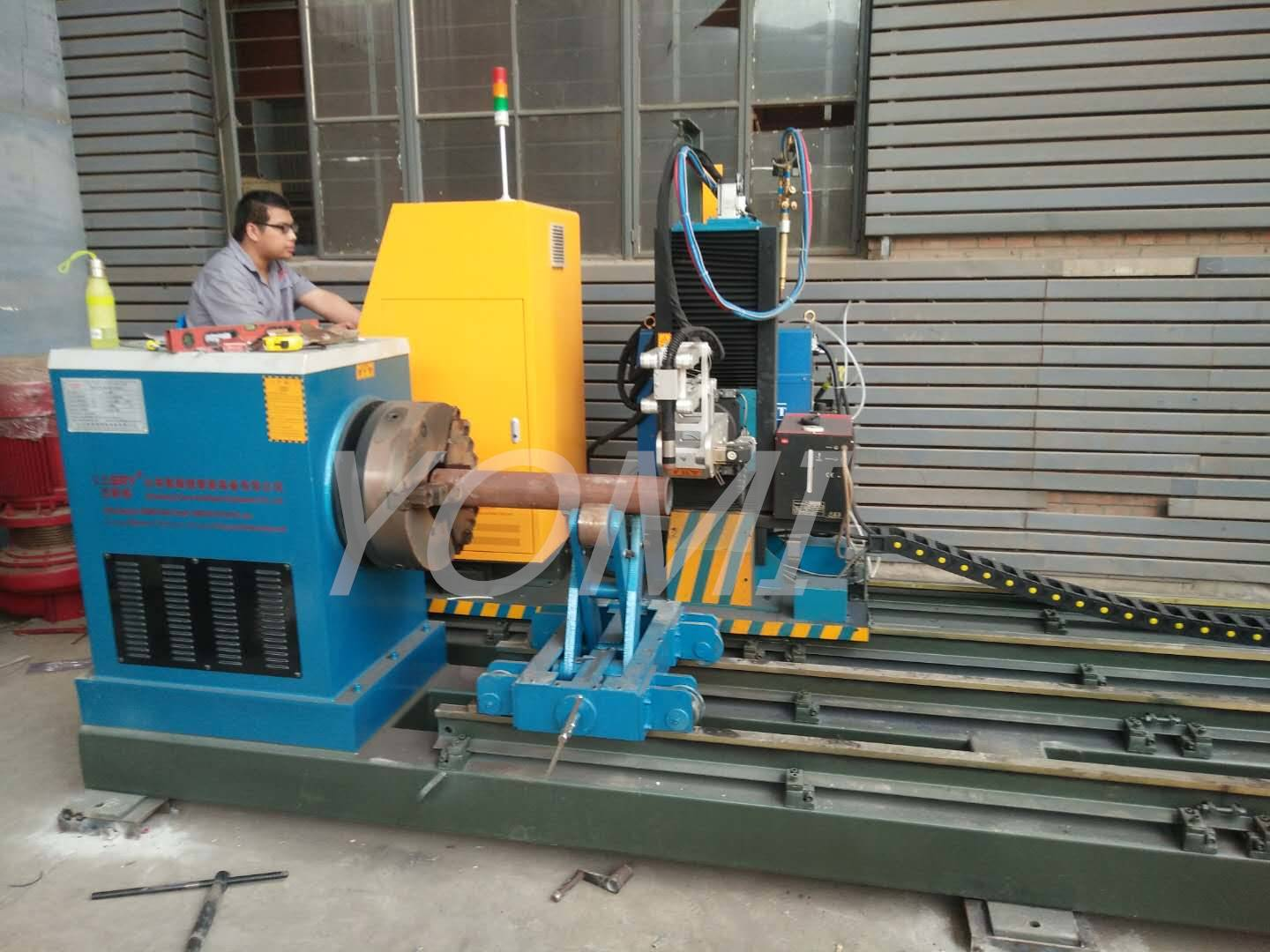 Two Round pipe Cutting Machines Finished Installation