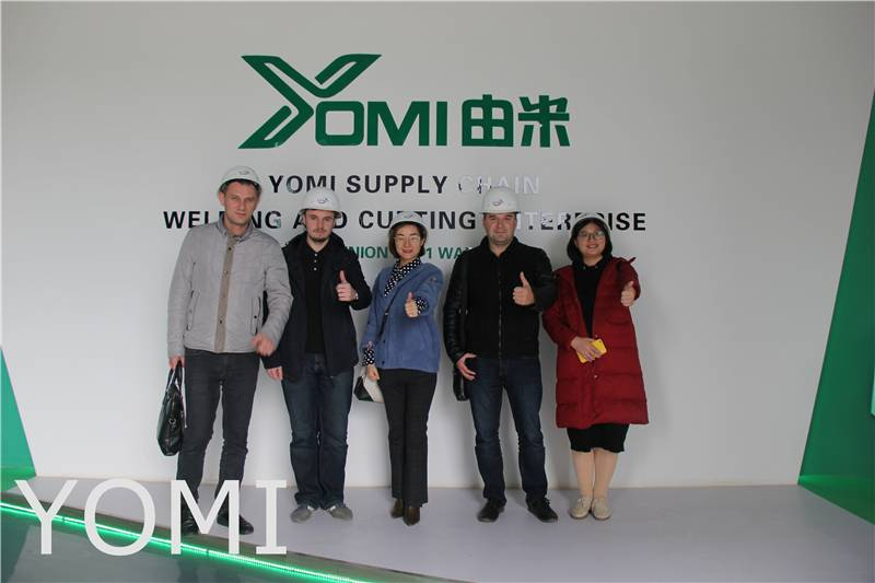 Russian Customers Visit H Beam Cutting Machine