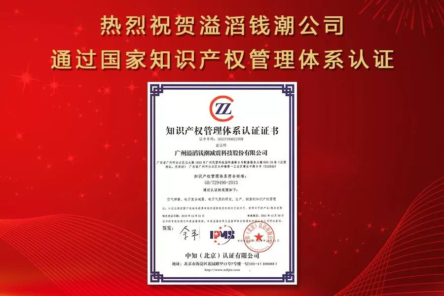Warmly celebrate our company pass the national intellectual property management system certification.