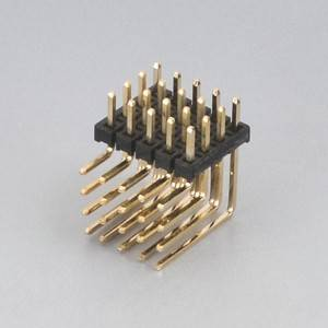 "Pin Header Pitch: 2.0 mm (0.047 "") Duadruple Row Right Angle Uri"