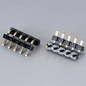 Pin Header  Pitch:2.54mm(.100″) Single Row  Right Angle Type  Dual plastic