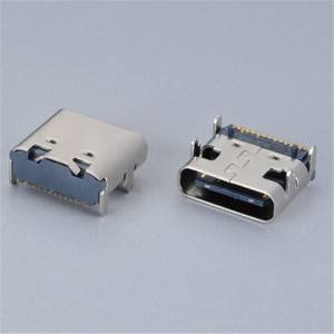 USB C-Type Female 16Pin DIP and SMD Type