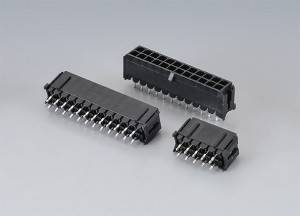 YWMF300 Series   Wire-to-Board connector  Pitch:3.00mm(.118″)   Dual Row  Top Entry  DIP Type  Wire Range:AWG 20-24