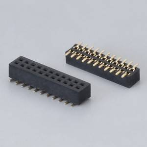 Female Header  Pitch:1.27mm(.050″)  Dual Row  SMD