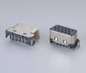 D-Sub connector DB 15PIN Female 90° DIP  Short and Sink type