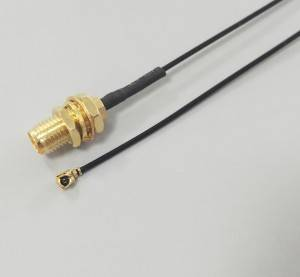 SMA Bulkhead Female to IPX(Hirose) With RF1.13 Jumper Pigtal Cable assembly
