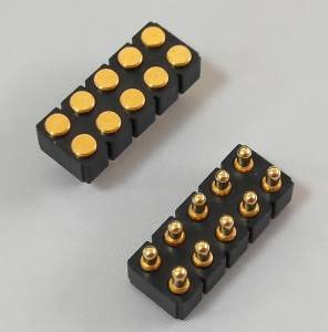 Spring Loaded Connectors Pitch:2.54mm 10PIN Gold plated:0.125um
