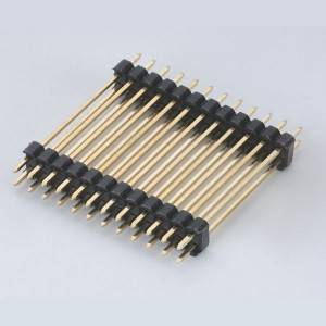 Pin Header  Pitch:2.54mm(.100″) Single Row  Straight Type  Dual plastic