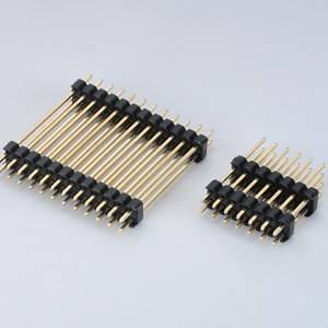 Pin Header  Pitch:2.54mm(.100″) Dual Row  Straight Type  Dual plastic
