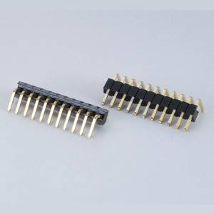 Pin Header  Pitch:1.27mm(.050″) Single Row  Right Angle Type
