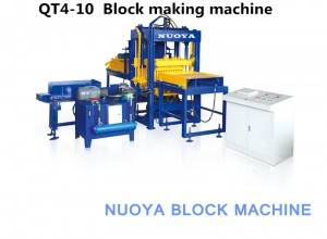QT4-10 Interlocking brick machine production line  for sale