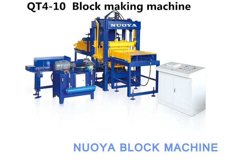 QT4-10 Interlocking brick machine production line  for sale Featured Image
