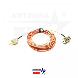 Detachable Fitting 5meters RG316 Teflon Low Loss Car Radio PL259 Antenna Extension Cable