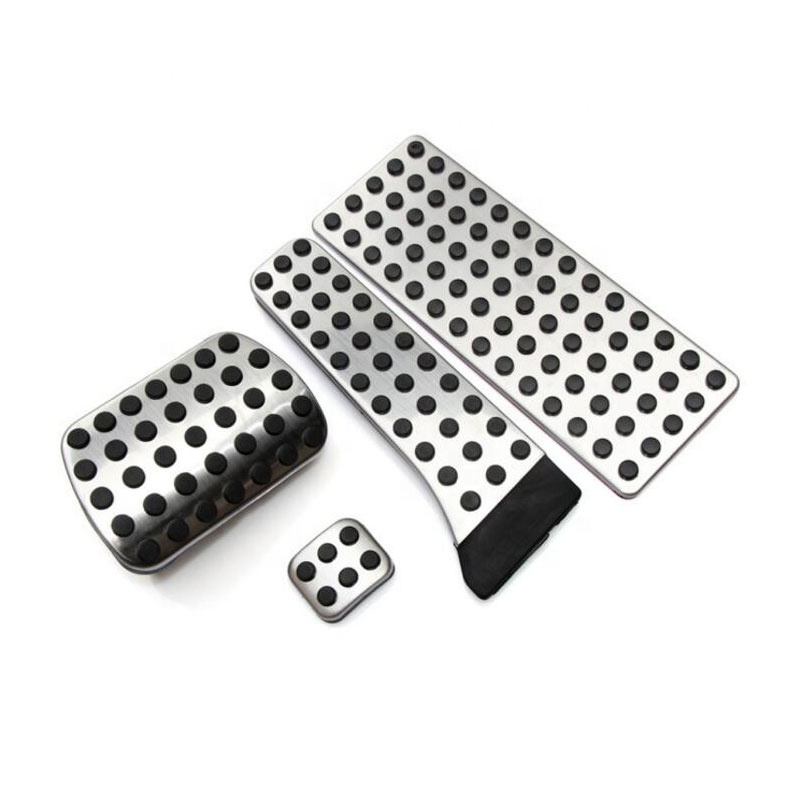 Aluminum Alloy Car Pedal Foot Gas Rest Pedals Plate Cover For Mercedes Benz C E S GLK SLK CLS SL Class AMG W203 W222 R172 R23