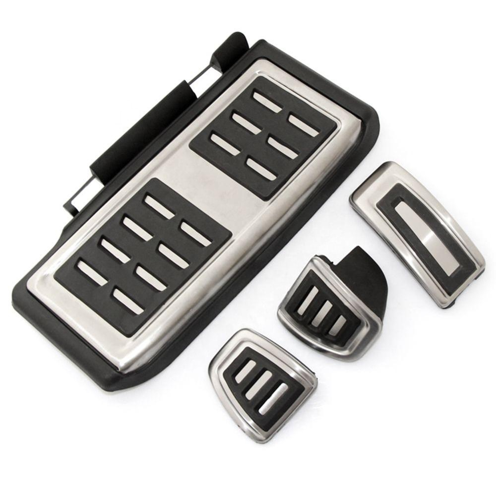 AT/ MT Aluminum alloy Car Pedal Foot Rest Pedals Plate Cover For Volkswagen VW Golf 7 MK7 GTI Skoda Octavia A7 Rapid