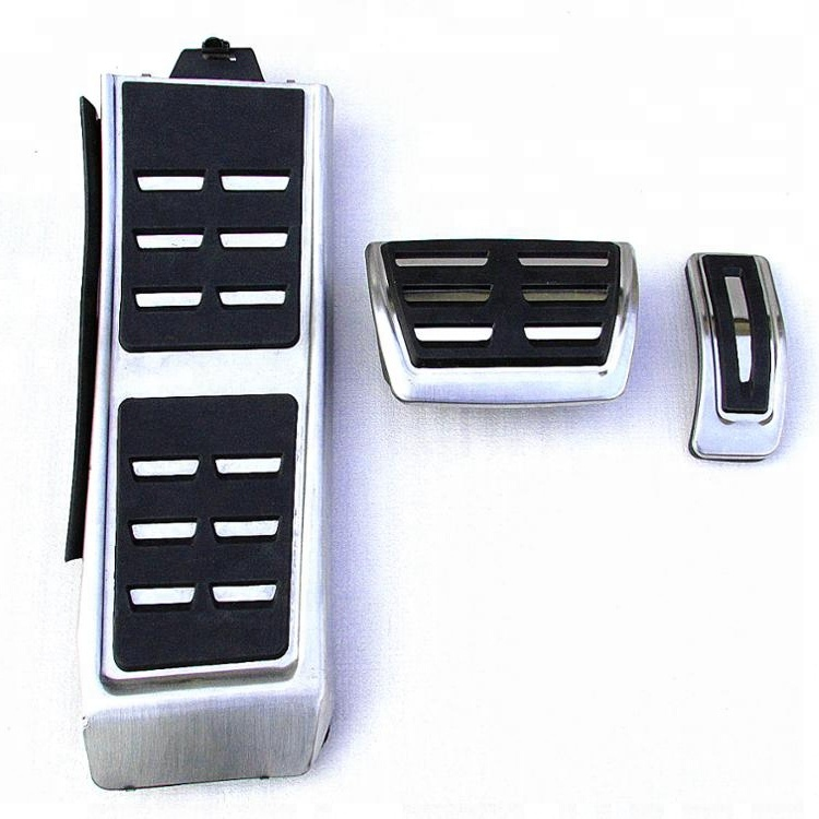 AT/ MT Aluminum alloy Car Pedal Foot Rest Pedals Plate Cover For Audi A8