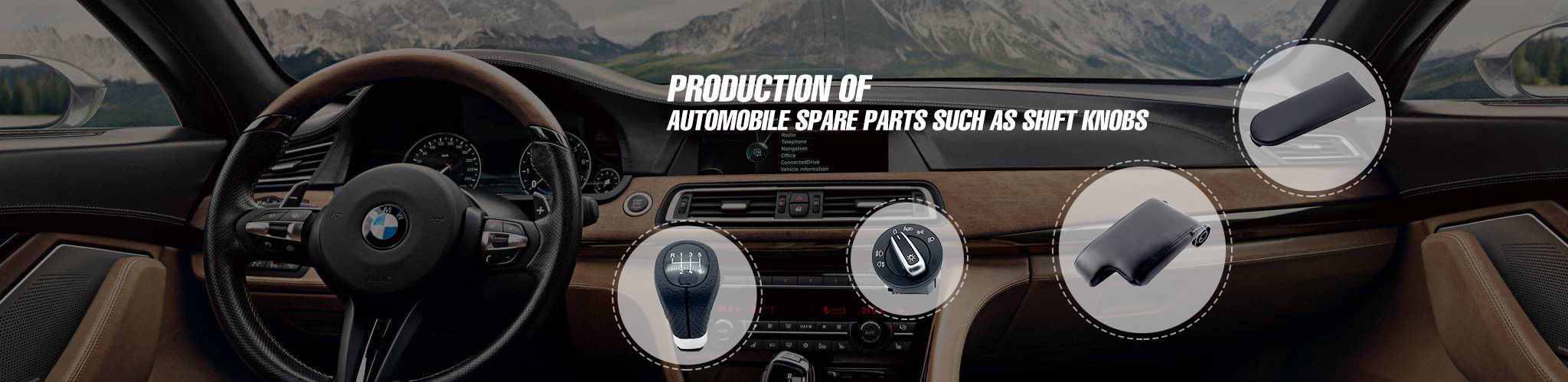 Production of automobile spare parts such as shift knobs