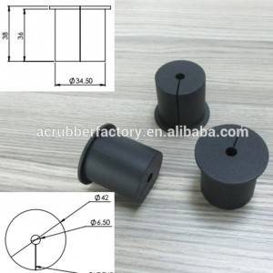 soft silicone rubber plug for 42 mm 1.65 1 5/8 inches tube plug with opening for 34.5 hole plug with 6.5 hole