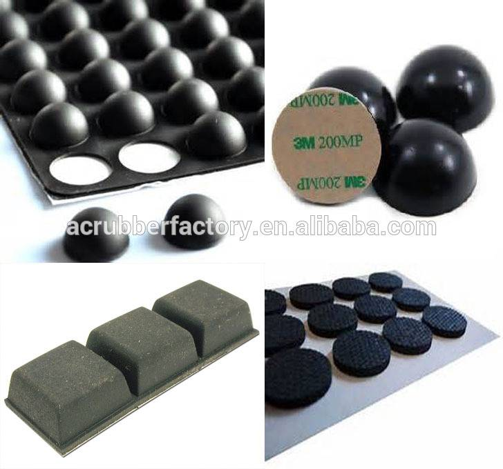 10x10x3 20×2 12.7×12.7×6 8×2 10×2 16×2 mm adhesive Silicone dots silicone rubber feet dots  pad clear 3M adhesive silicon feet