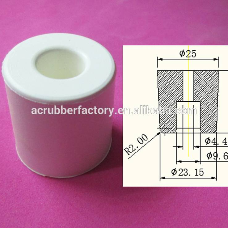 1 x 1 inch white hard rubber feet one inch rubber feet with M5 hole 1 inch rubber feet