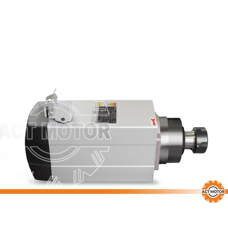 ACT MOTOR Spindle motor air cooling  3.5KW ER20 CNC machine 400HZ Featured Image