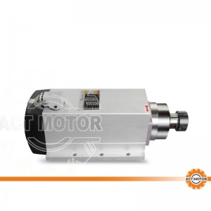 ACT MOTOR Spindle motor air cooling square 6KW ER32 CNC machine 300HZ