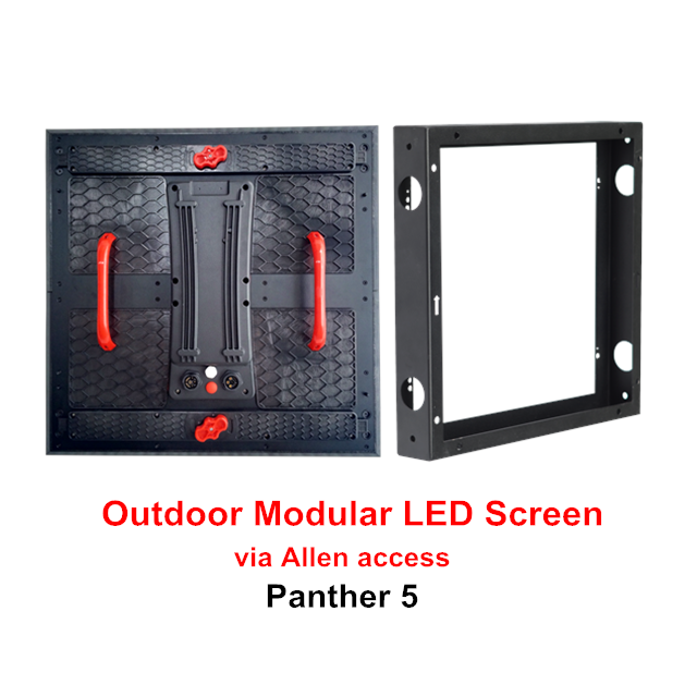 P3.9/P5.2/P10.41 Outdoor Modular LED Display Solution via Allen access