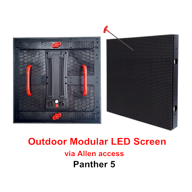 Why Panther modular LED screen is a competitive option for outdoor commercial signage?