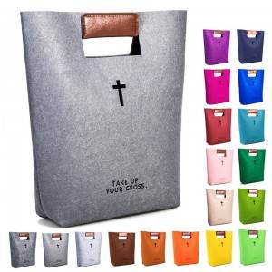 Dark Gray Felt Bible Bag Manufacturers and Exporters