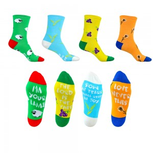 Women 4-Packs Novelty Cute Crew Socks