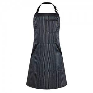 Iivos Aprons for Women and Men, Kitchen Chef Apron with 3 Pockets and 40″ Long Ties, Adjustable Bib Apron for Cooking, Serving, BBQ- – 33″ x 28″