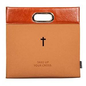 China Cheap Carved Cross Holy Zipper Bible Briefcase