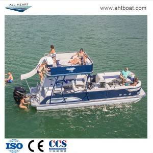 "30"" Double Deck Aluminum Pontoon Boat"