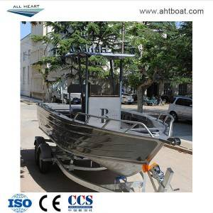 Pressed 5.8m Center Console with T-Top Aluminum Fishing Boat