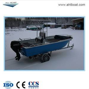 Pressed 4.2m Center Console Bimini Fishing Boat